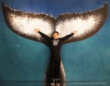Sylvain avec La queue de la Baleine