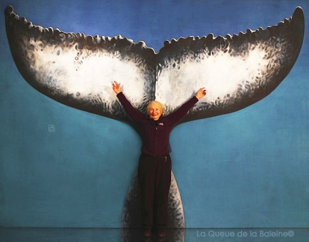 Jeanine avec La queue de la Baleine
