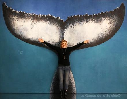 Manon avec La queue de la Baleine