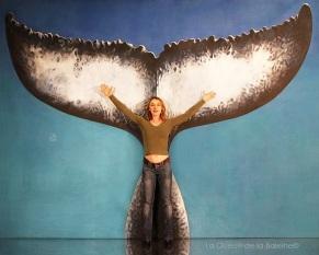 Gaëlle avec La Queue de la Baleine.
