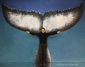 Gaële avec La Queue de la Baleine.