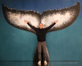Mathieu avec La Queue de la Baleine.