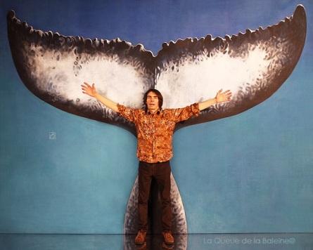 Eric avec La Queue de la Baleine.