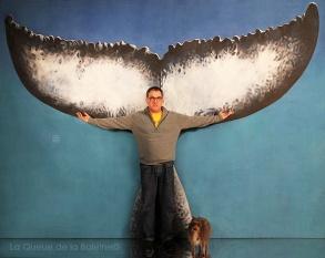 Philippe avec La Queue de la Baleine.
