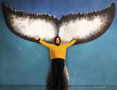 Federica avec La Queue de la Baleine.