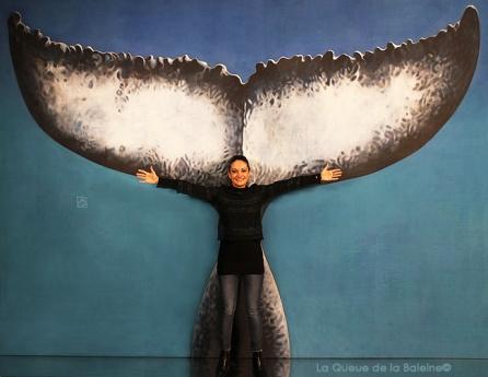 Natalina avec La Queue de la Baleine.