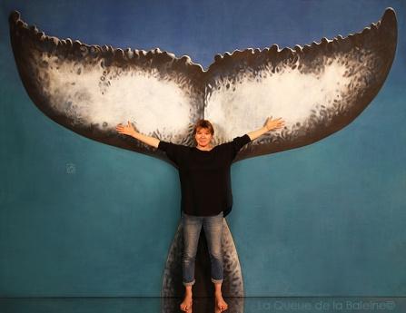 Béatrice avec La Queue de la Baleine
