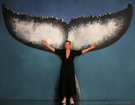 Catherine avec La Queue de la Baleine