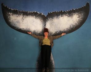 Carole avec La Queue de la Baleine