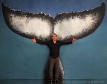 Adrien avec La Queue de la Baleine