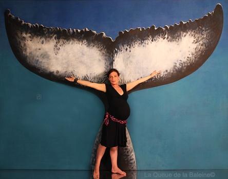 Delphine avec La Queue de la Baleine