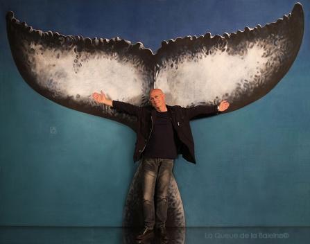 Jean Bernard avec La Queue de la Baleine