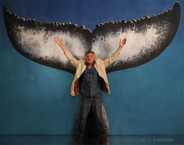 Michel avec La Queue de la Baleine