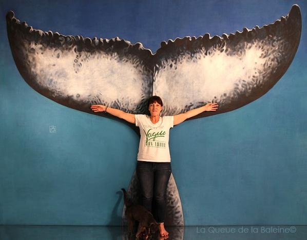 Claudia avec La Queue de la Baleine