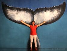 Anne avec La Queue de la Baleine