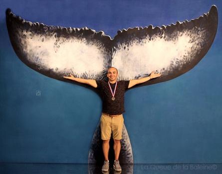 Micaël avec La Queue de la Baleine
