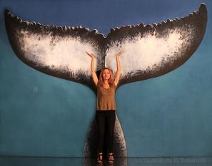 Laetitia avec La Queue de la Baleine