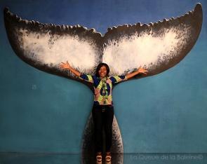 Nicole avec La Queue de la Baleine