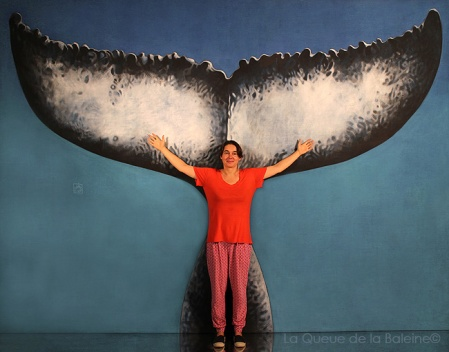 Agnès avec La Queue de la Baleine