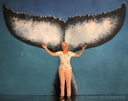 Monique avec La Queue de la Baleine