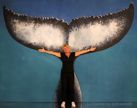 Laurence avec La Queue de la Baleine