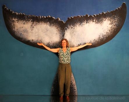 Joëlle avec avec La Queue de la Baleine