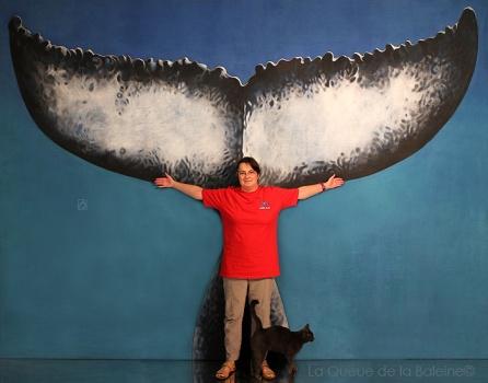 Claire avec avec La Queue de la Baleine