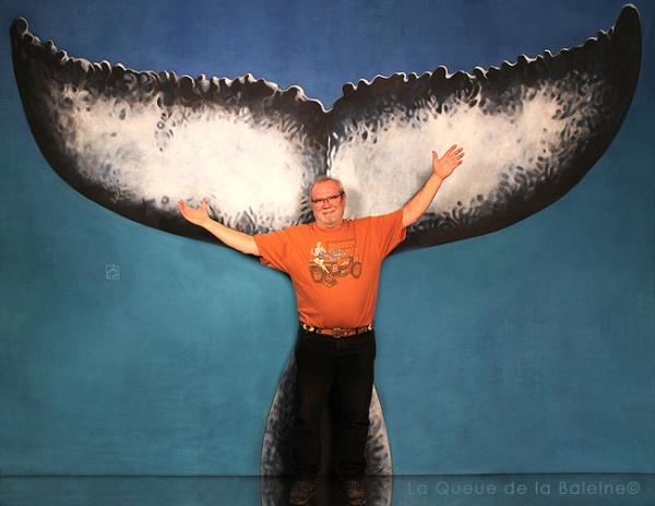 Hervé avec La Queue de la Baleine