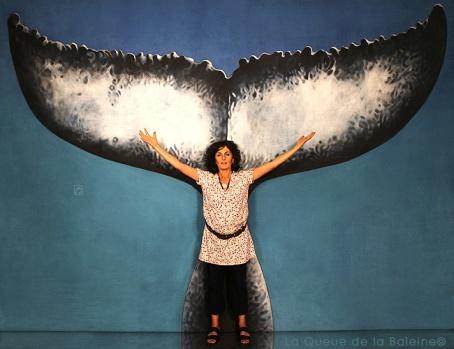 Katia avec La Queue de la Baleine
