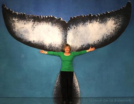 Dominique avec La Queue de la Baleine
