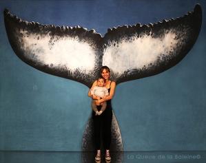 Leslie et son bébé avec La Queue de la Baleine