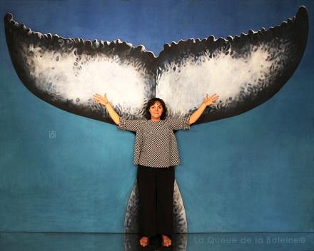 Françoise avec La Queue de la Baleine