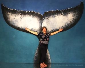 Blandine avec La Queue de la Baleine