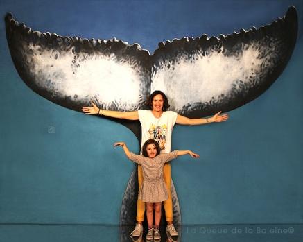 Valérie et Anaïs avec La Queue de la Baleine