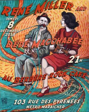 Affiche concert de René Miller et Dédé Macchabée