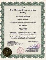 3 mois sur le Sea Shepherd III