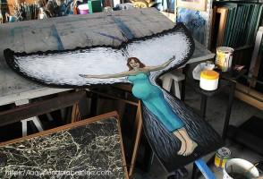 La pancarte de La Queue de la Baleine