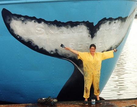 La première peinture de queue de baleine